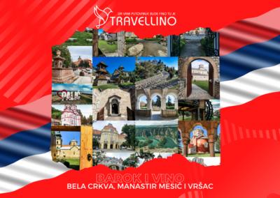 BELA CRKVA, manastir MESIĆ, VRŠAC - Barok i vino